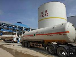 中科炼化70000Nm³/h空分装置低温罐氮气投用