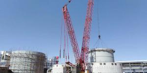 【项目建设】榆能化地面火炬第一段筒体吊装就位
