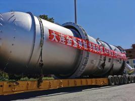 聚焦一线丨华陆科技空气化工产品(呼和浩特)有限公司大型气体岛项目首台长周期设备顺利运抵现场