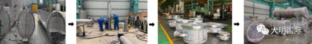 大明重工承制叠加式换热器服务60万吨ABS及AS项目