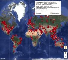 【项目信息】全球油气生产项目(陆地和海上)信息分布