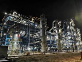 【项目建设】延长油田伴生气项目BDO装置精馏单元投料试车成功