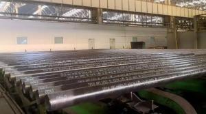 天管2.6万吨出口订单首批管线管产品顺利下线