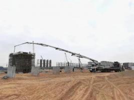 【项目建设】榆神能化甲醇联合净化装置3台压缩机基础浇筑完成