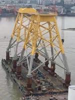 广东中远海运重工再交付2套海上风电导管架